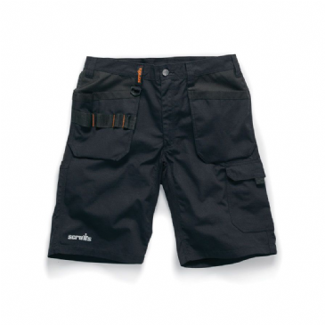 Scruffs Trade Flex Stretch Holster Work Shorts (Black)